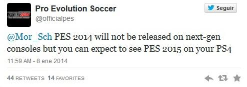 PES 2015: Konami lo confirma para PS4