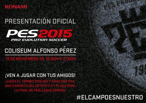 PES 2015: Presentación en el Coliseum Alfonso Pérez el 13 de noviembre