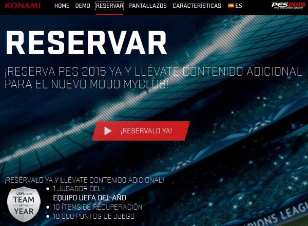 PES 2015: Abierta la reserva con contenido adicional
