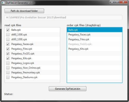 dpfilelist generator by baris