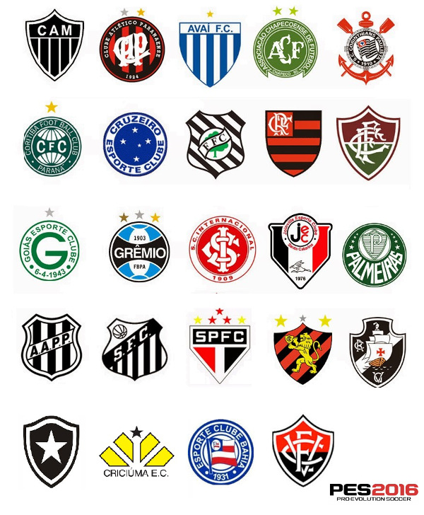 PES 2016: Confirmados 24 equipos brasileños