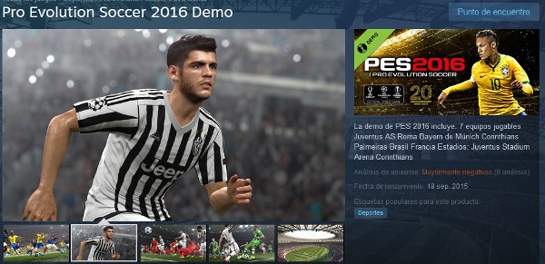 PES 2016: Ya disponible la Demo para PC