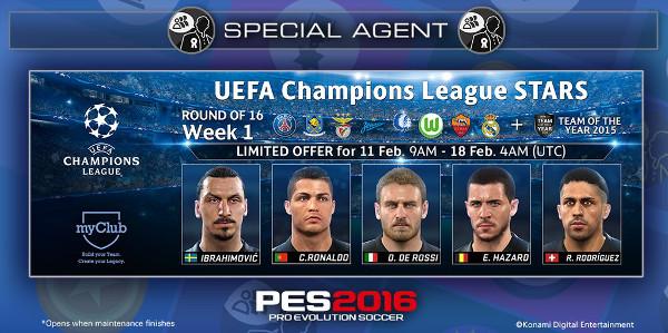 PES 2016: Champions League y el equipo del año en myClub