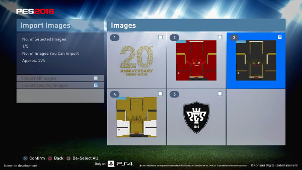 PES 2016: Los Option File muy cerca en PS4