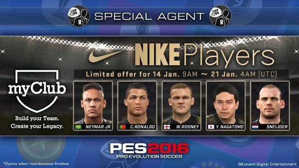 PES 2016: Esta semana jugadores Nike en MyClub
