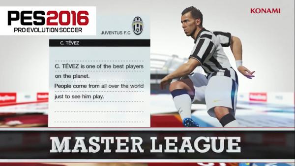 PES 2016: Nuevos detalles sobre la Master League