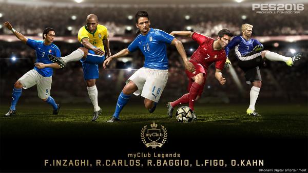 PES 2016: Baggio, Roberto Carlos, Figo, Inzaghi y Kahn llegan a leyendas myClub