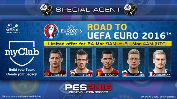 PES 2016: myClub Campaña Camino a la UEFA Euro 2016