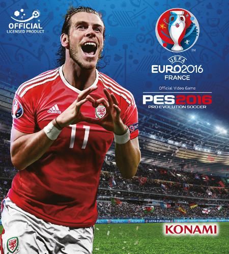 Gareth Bale portada del videojuego de Konami UEFA EURO 2016