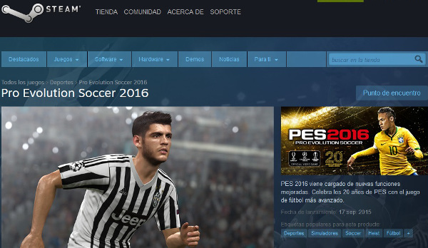 PES 2016: Ya disponible la reserva a través de Steam