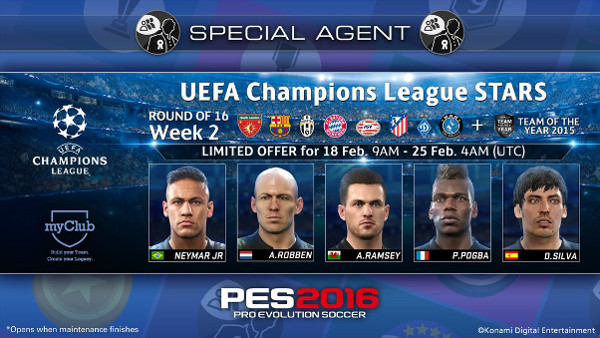PES 2016: UEFA Champions League STARS + Toty