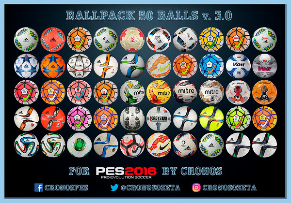 pack balones pes 2016