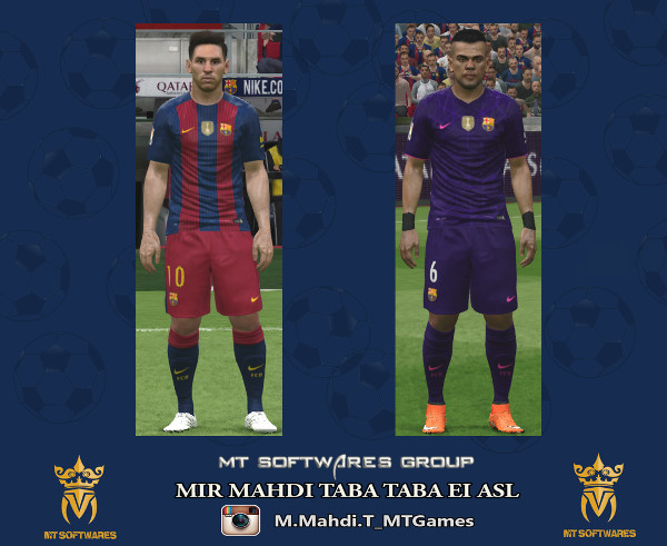 PES2016 Barcelona 2016-17 Kit by MT Games