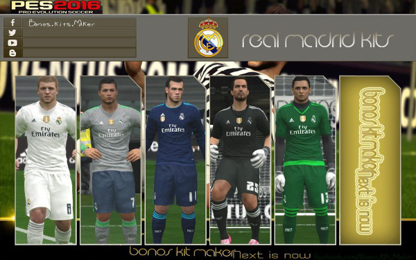 equipacion real madrid pes 2016