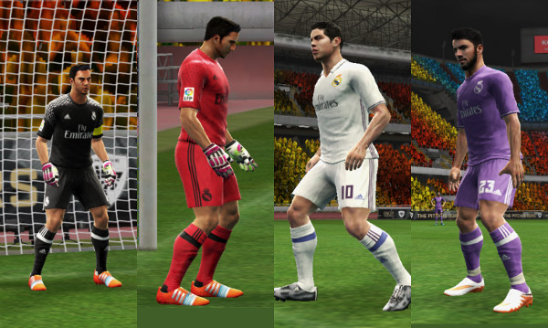 equipaciones real madrid pes 2016