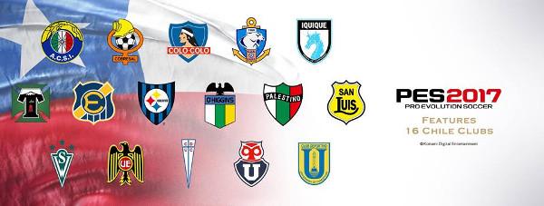 PES 2017: Konami licencia la Liga Chilena con sus 16 equipos