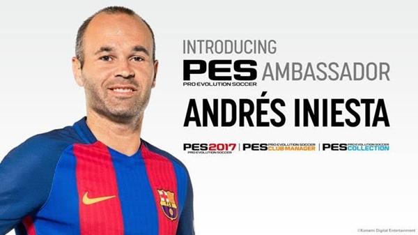 PES 2017: Andrés Iniesta, capitán del FC Barcelona, nuevo embajador oficial de PES