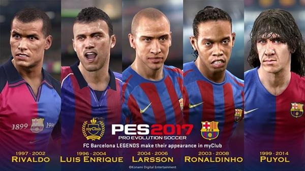 PES 2017: Las leyendas del Barcelona llegan a myClub