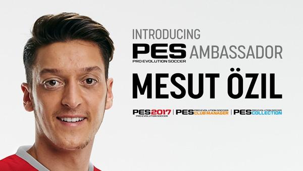 PES 2017: La estrella alemana del Arsenal, Mesut Özil, nuevo embajador de PES