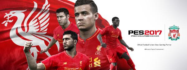 PES 2017: Konami y el Liverpool F.C. anuncian un acuerdo exclusivo