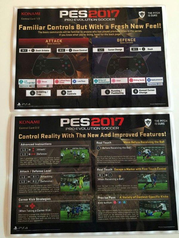 PES 2017: Nuevos controles y características