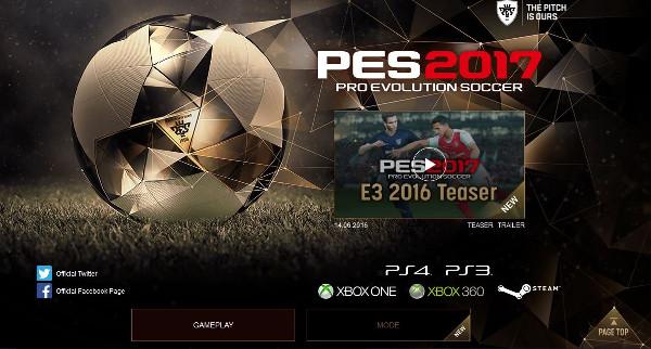 PES 2017: Konami actualizará mañana la web oficial