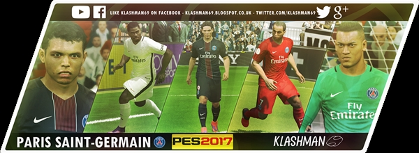 Paris Saint-Germain Kit Pack 2016-17 PES 2017 - by Klash69