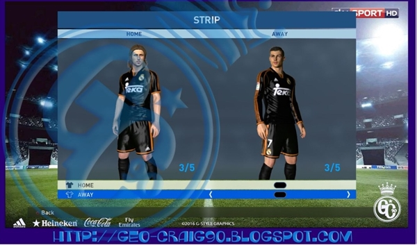 kits real madrid 1998 pes 2017