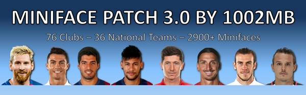 Miniface Patch 3.0 PES 2017 PC - by 1002MB
