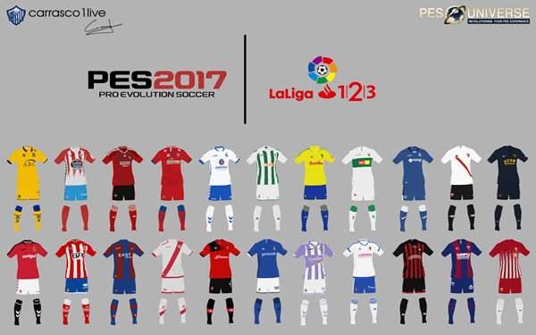 Kits La Liga 123 PES 2017 PS4 - by carrasco1live