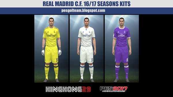 Real Madrid Kits 2016-17 PES 2017 PS4 - by KingKong29