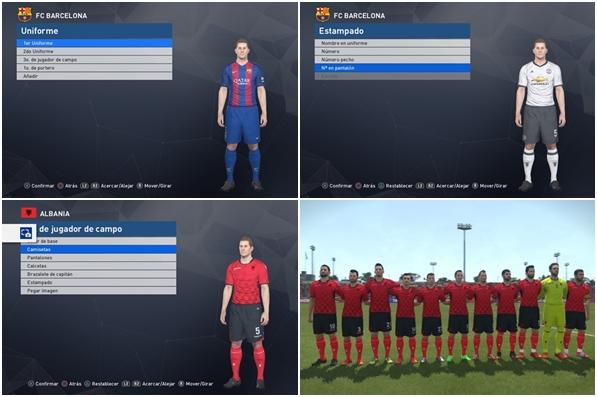 PES 2017: Tutorial agregar kits a equipos licenciados en PS4