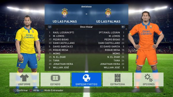 option file liga santander pes 2017 ps4