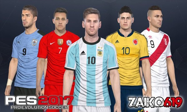 selecciones sudamerica option file pes 2017 ps4