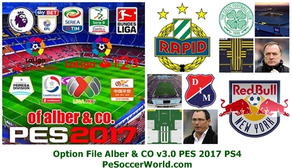 Option File Alber & CO v3.0 PES 2017 PS4