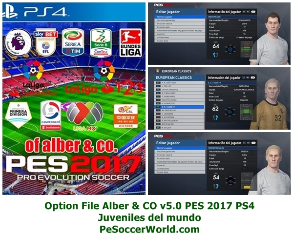 Option File Alber & CO v5.0 PES 2017 PS4