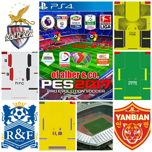 Option File Alber & CO v6.0 PES 2017 PS4
