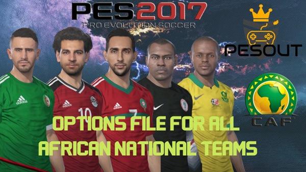 Selecciones nacionales Africanas OF v1.0 PES 2017 PS4 - by Pesout