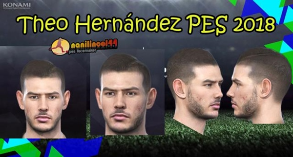 Theo Hernandez face PES 2018 PC - by Nanilincol44