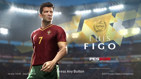 Legends Luis Figo Start Screen PES 2018 - by ABW