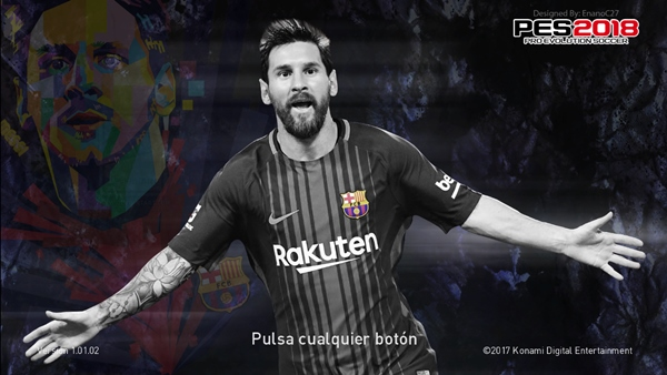 Start Screen Leo Messi V1 PES 2018 PC - by Enanoc27