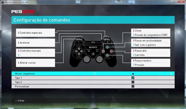 Control Buttons From PES 2018 PS3 For PC Version
