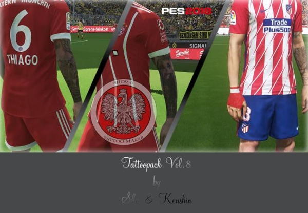 Tattoos Pack v8 PES 2018 - by Sho y Kenshin
