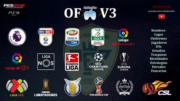 option file pes 2018 ps3