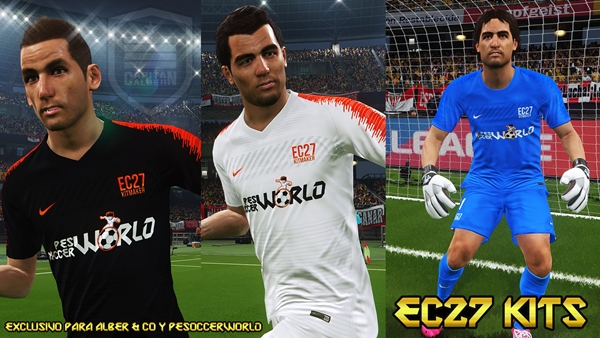Kits Exclusivos PeSoccerWorld PES2018 PS4 PC - by enanoc27