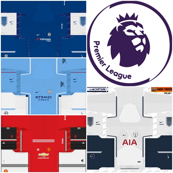 premier league kits pes 2018