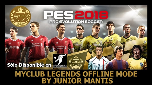 Leyendas myClub Offline PES 2018 PS4 v3.0 - by JuniorMantis
