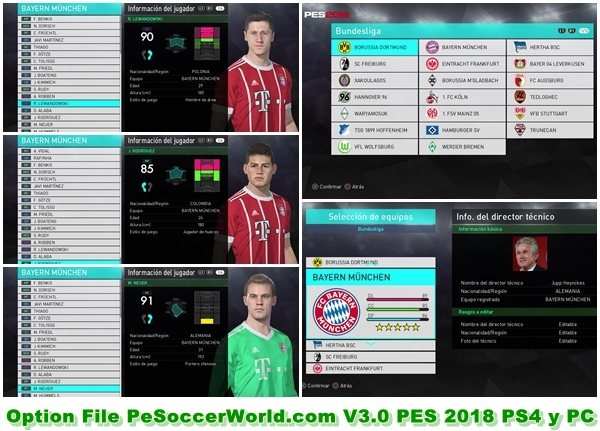 option file pes 2018 ps4 pc