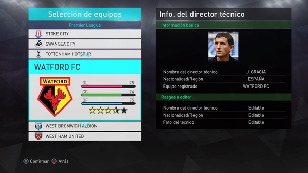 option file premier league pes 2018