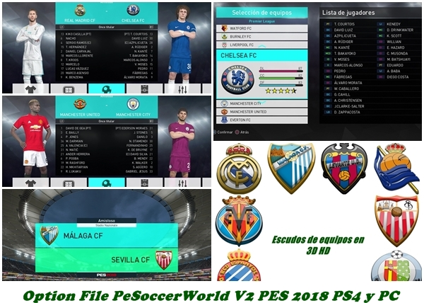 OF pes 2018 ps4 y pc